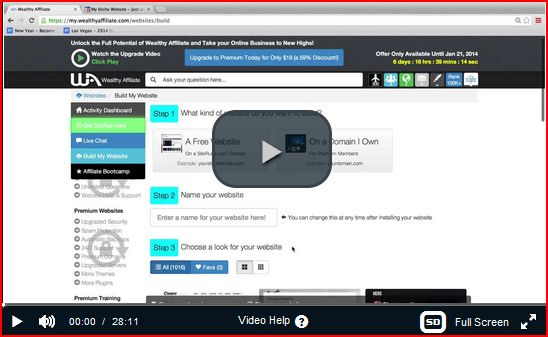 The video page of how to benefit from Wealthy Affiliate as affiliate matters