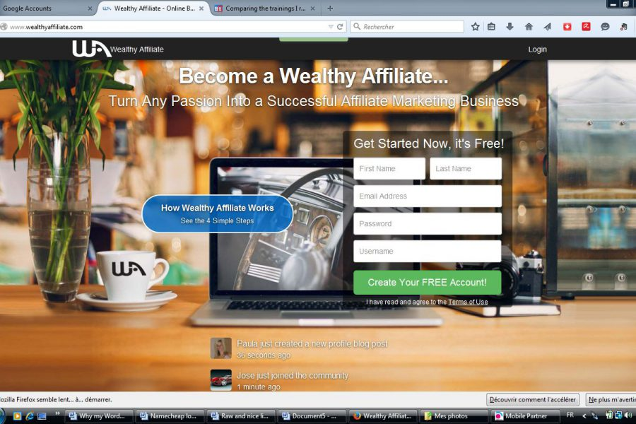 Pictorial tour: Wealthy Affiliate training and tools