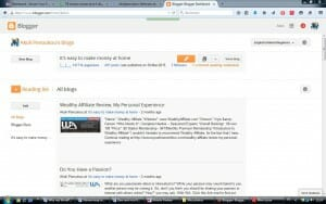 Blogger homepage for Why my WordPress Blog Website is better than my blogspot's