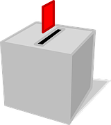 ballot with a red ballot paper above it as part of content matters