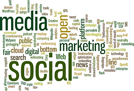 A cloud-like structure made with a group of words with marketing showing prominently designation 22 Steps to Having a Blog for Making Money Online