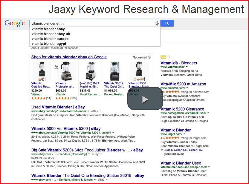 Jaaxy keyword research and management