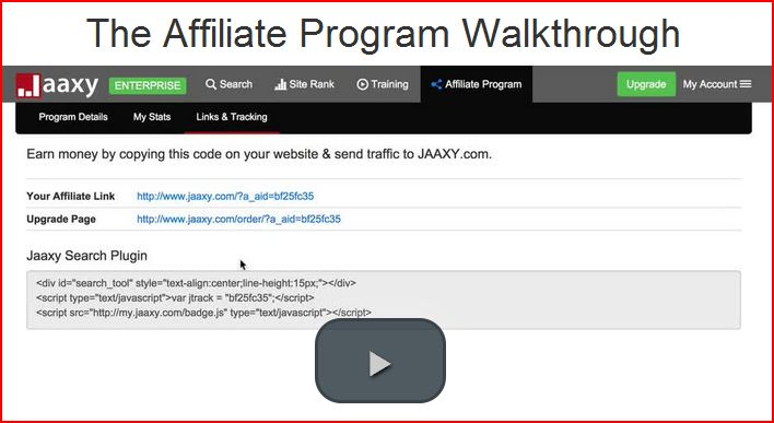 Jaaxy, the affiliate program walkthrough