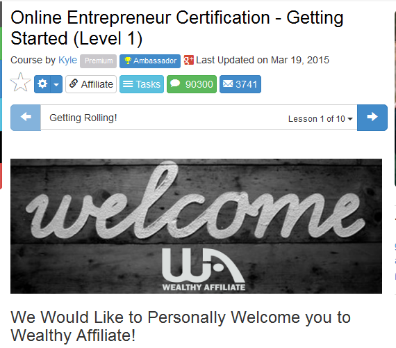 Online entrepreneur certification course getting started level 1 to signify How Can Wealthy Affiliate Help You Start or Advance Your Career Online?