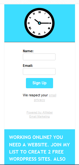 Signup form website