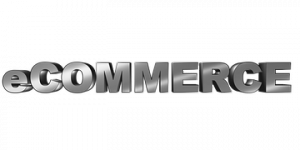 e-commerce written in silver letters
