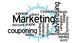 A design showing facets of Affiliate Marketing such as couponing, etc.