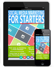 The front page image of social media marketing for starters