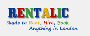 Rentalic name used as logo in colorful colours