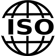 The ISO logo represented by a globe with ISO written across it to signify signs showing if a company is legitimate or not