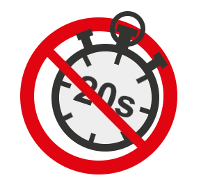 A barred Timer shwoing 2O-seconds