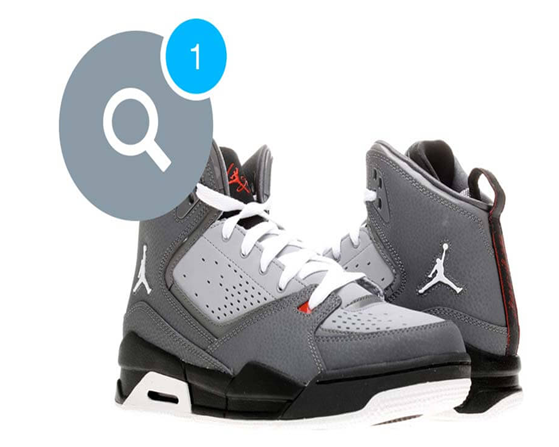 2 Jordan basketball shoes lined side by side but in opposite directions