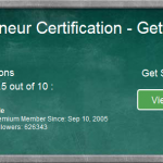 A green board showing details of the online entrepreneur certification course, level 1