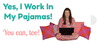 The working in my pyjamas blog logo