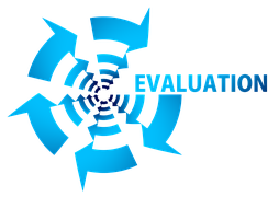 A drawing with the words EVALUATION to signify product review