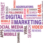 A design showing a blog marketing graphics.