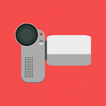 Drawing of a video camera.