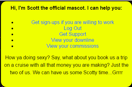Some announceùents from Scott, the EasyCash4Ads mascot, making some announcements