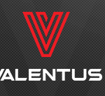 Valentus logo made up of V written in red letters over the name VALENTUS