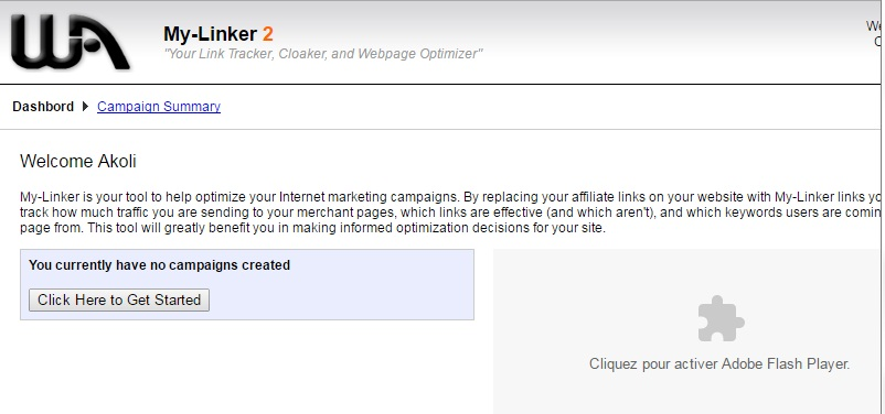 My Linker for linking, cloaking and tracking links