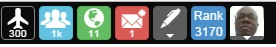 Top right hand side navigational icons of Wealthy Affiliate's activity dashboard