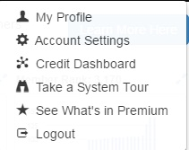 Elements of my photo icon such as my profile, account settings, etc.