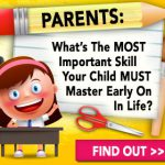Drawing of a child before a desk and the words PARENTS: What's the MOST Important Skill Your Child Must Master Early On In Life?
