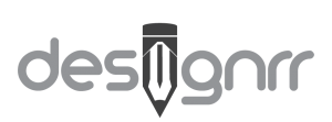 Designrr logo made upof the company name where the i is transformed into a short pencil