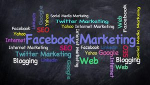 A marketing banner showing facebook and others to ask does doing affiliate marketing need a large online presence