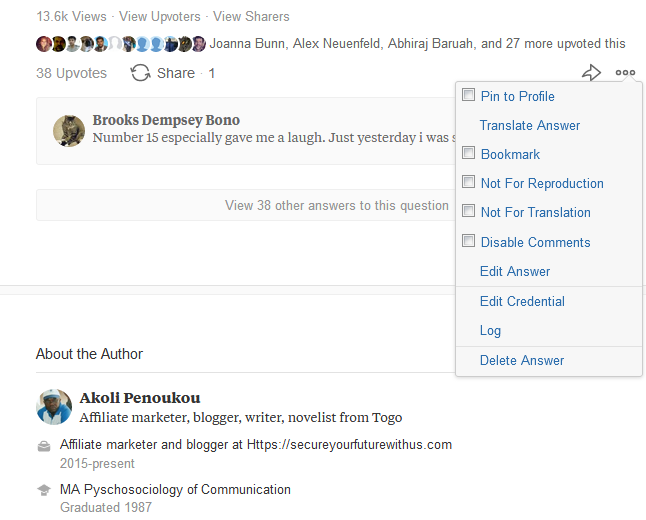 Edit quora answers for trending answers on it