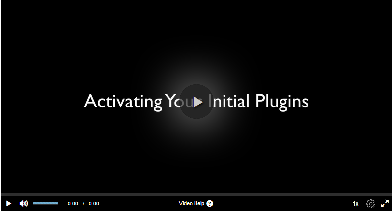 Activating your wordpress initial plugins video link