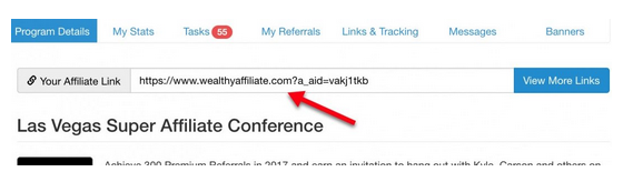 Call to action links that take your website visitors to Wealthy Affiliate, through your affiliate link in a product review