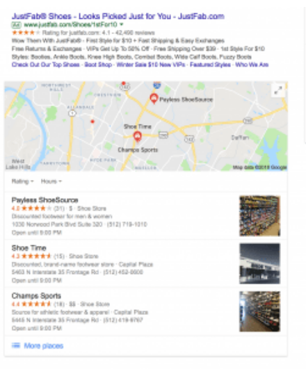 Google rich results page