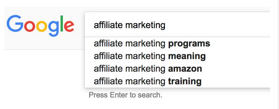More Google Instant predictive keyword research results for affiliate marketing