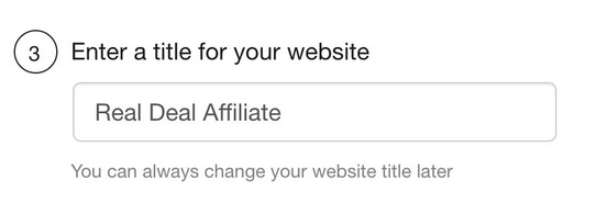 Wealthy affiliate enter a title for your website for How to make a website from scratch free at Wealthy Affiliate