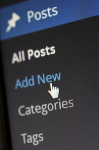 CMS Add New Post page for 9 sources to find quality content for your website