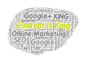 Content is king image of words in a cloud