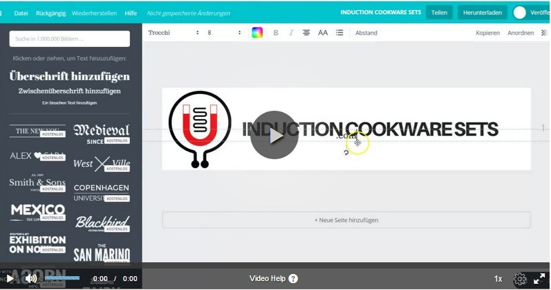 Make Your Own Professional Logo With Canva video image