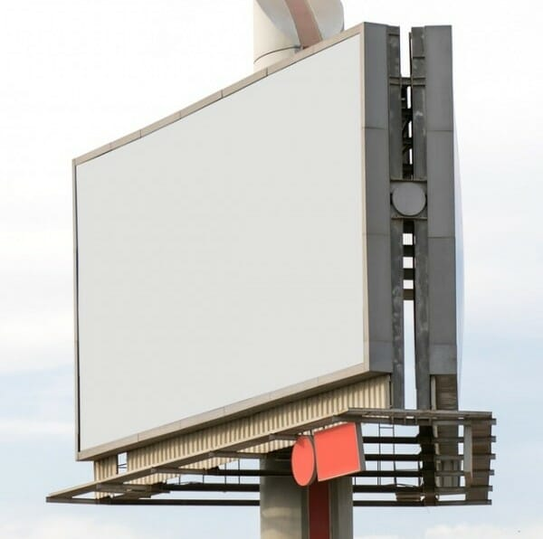 A giant electronic billboard to signify promotional toolbox of your wealthy affiliate business