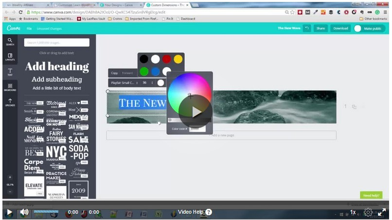 Customize a Header Image with Canva video image as How to Design Your Web Content to Make It Look Beautiful