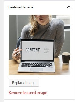 How to set a featured image into a WordPress blog post