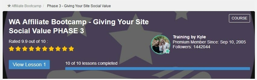 image affiliate bootcamp Phase 3 Giving your site social value