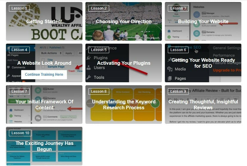 image Lesson included affiliate bootcamp phase 1 Getting your business rolling