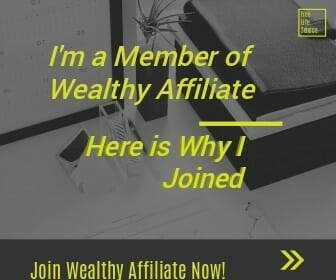 Image with inscription I'm a member of Wealthy Affiloiate and here is why I joined