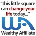 Smallest wealthy affiliate banne saying this little square can change your life today