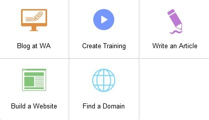 Sub domains under pencil icon image for Details of the 6 Wealthy Affiliate icons at the top of the dashboard