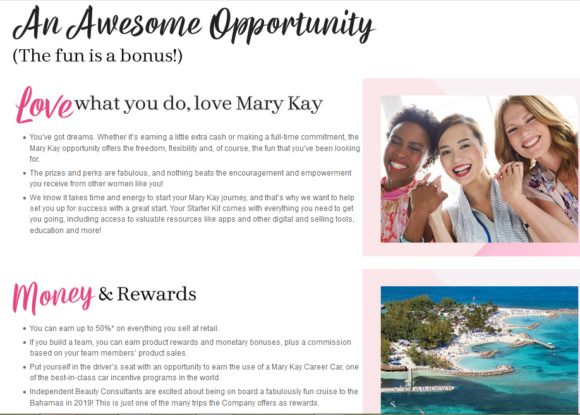 MaryKay, an awesome oportunity for selling MaryKay