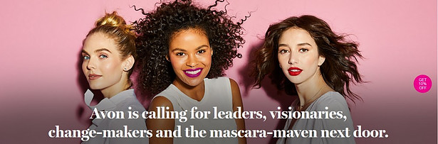 Women showing off the avon looks to signify can you make money with avon