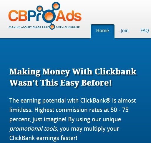 CBProads making money with Clickbank wasn'tthis easy before!