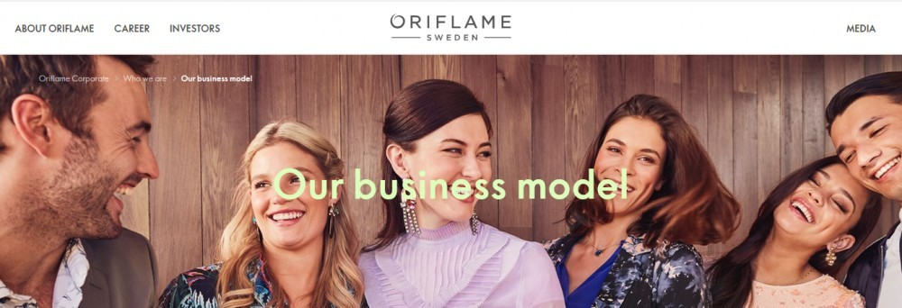 Oriflame cosmetics products our business model
